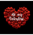 Valentines Day Be my Valentine handwritten text vector image