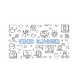 video blogger concept outline horizontal vector image