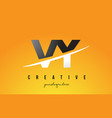 vy v y letter modern logo design with yellow vector image vector image