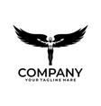 winged man logo vector image