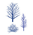 winter trees silhouette vector image vector image