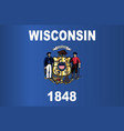 wisconsin state flag vector image vector image