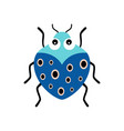 with colorful cartoon beetle isolated vector image