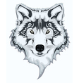 Wolf design vector image vector image