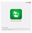 world globe icon green web button vector image vector image