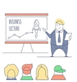 line art business lecture vector image