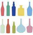 set of wine bottles vector image