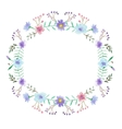 Watercolor floral frame vector image