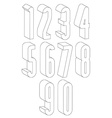 3d black and white tall numbers made with lines