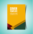 abstract report cover4 vector image vector image