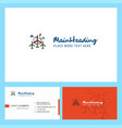 air turbine logo design with tagline front and vector image vector image