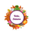 autumn elements and leaves with place vector image vector image