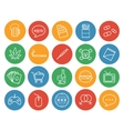 Bad habits color linear icons set vector image vector image