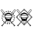 Baseball mask and crossed bats vector | Price: 1 Credit (USD $1)