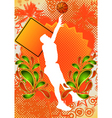 basketball summer background vector image vector image