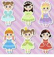 Beautiful princesses vector image