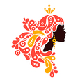 beautiful woman silhouette tattoo abstract girl vector image vector image