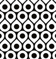 Black and white seamless pattern with droplets and vector image vector image