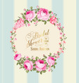 border of flowers vector image