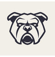 bulldog mascot icon vector image