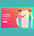 businessmen greet each other business team vector image