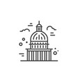 capitol line icon vector image