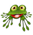 cheerful green frog vector image vector image