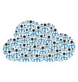 Cloud collage of hierarchy icons