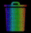 colored dot trash bin icon vector image