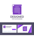 creative business card and logo template student vector image
