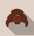 croissant icon in flat style isolated on vector image vector image