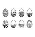 easter egg design element vector image vector image