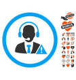 emergency service operator icon with valentine vector image vector image