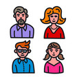 family avatars set vector image vector image