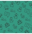 Family set pattern vector image vector image