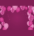 festive birthday background with balloon vector image vector image