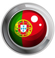 flag of portogal in round badge vector image vector image