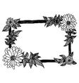 flower frame Floral border vector image