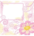 frame and flowers vector image vector image