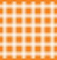gingham orange seamless pattern background vector image vector image