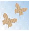 Handmade cardboard butterfly vector image vector image