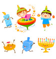 hanukkah cartoons vector image