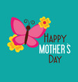 happy mothers day celebration card vector image vector image