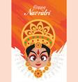 happy navratri celebration card lettering vector image vector image