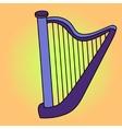 Harp Pop art vector image