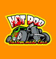 hot rod custom made cars t-shirt print template vector image vector image