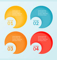 infographic template of four steps options vector image