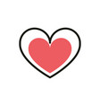 love heart social media icon line and fill vector image