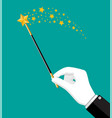 magical stick with sparkle vector image