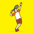 man tennis player action serve vector image vector image